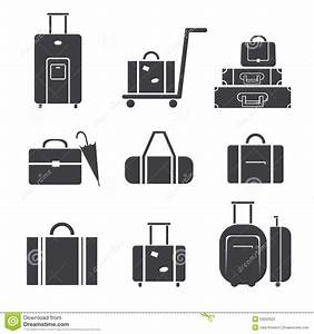 Luggage Icon Set Stock Vector - Image: 53522525