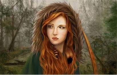 Painting Woman Wallpaperaccess Redhead Fantasy Desktop Wallpapers