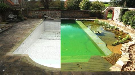 converting a chlorine pool to organic pool in 1 minute