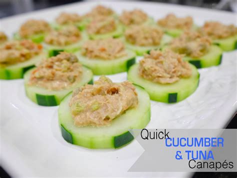 canape recipes one thousand looks cucumber and tuna canape recipe
