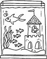 Coloring Aquarium Pages Previus sketch template