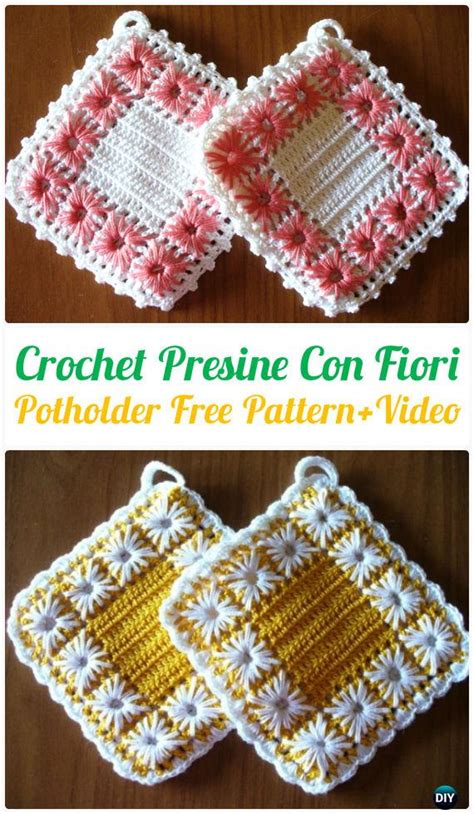 crochet pot holder hotpad  patterns