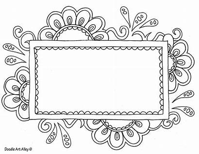 Doodle Alley Coloring Pages Printable Templates