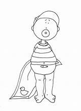 Digi Coloring Stamps Doll Diaper Boy sketch template