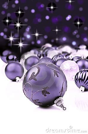 purple decorative christmas ornaments royalty  stock