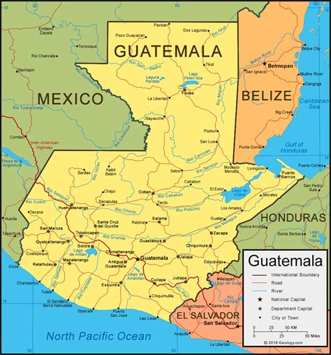 guatemala map  satellite image