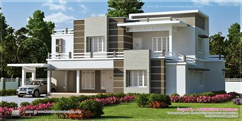 post modern house plans beautiful sober color contemporary home design kerala