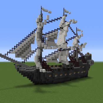 Minecraft Boat Stairs by Pirate Ship The Black Pearl Grabcraft Your Number