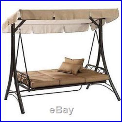 outdoor porch swing with canopy steel patio furniture