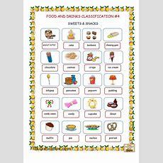 Food & Drinks Classification #4 (sweets & Snacks)  English Pictionary  Snacks, Food, Drink і Food