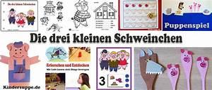 Thema Märchen Im Kindergarten Basteln : projekt die drei kleinen schweinchen ideen f r kindergarten und kita kindersuppe abo ~ Frokenaadalensverden.com Haus und Dekorationen