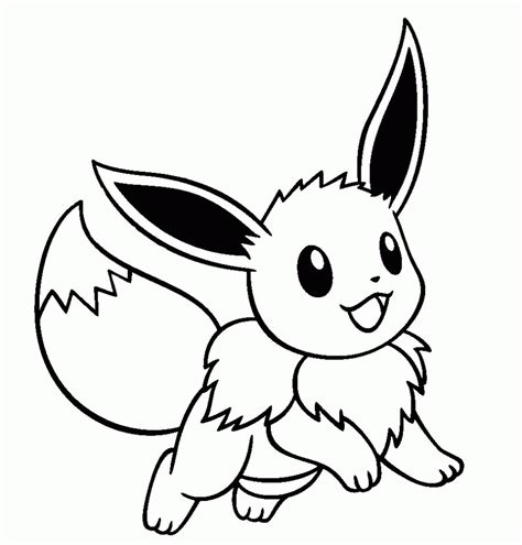 eevee coloring page coloring home