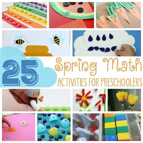 inspire me monday 76 998 | 25 SPRING MATH ACTIVITIES FOR PRESCHOOLERS FEATURED