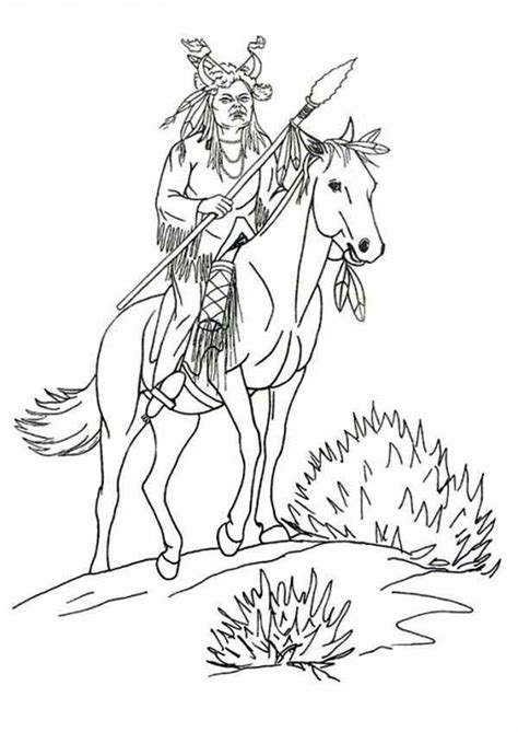 native american coloring pages  preschoolers coloring home