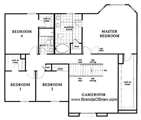 4 bedroom floor plan black ranch floor plan kb home model 2886 upstairs