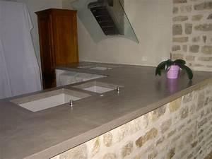 Beton Pour Plan De Travail : cuisine plan de travail c t b ton ~ Premium-room.com Idées de Décoration