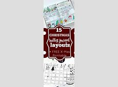 15 Christmas Bullet Journal Layout Ideas + FREE Printable