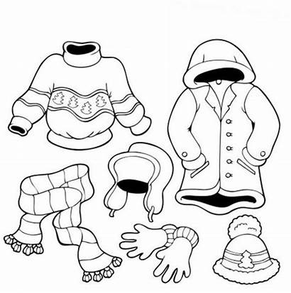 Winter Coloring Pages Clothes Books Printable Outfits