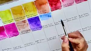 Daler Rowney Colour Chart Old Holland Artist Grade Watercolor Paint Color Chart