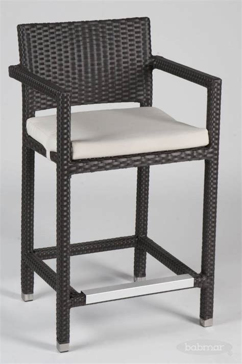 vertigo counter height outdoor bar stool with arms patio