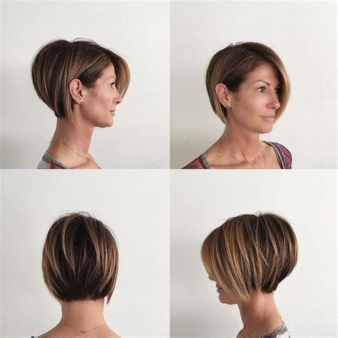 stacked bob with short sides best short hair styles