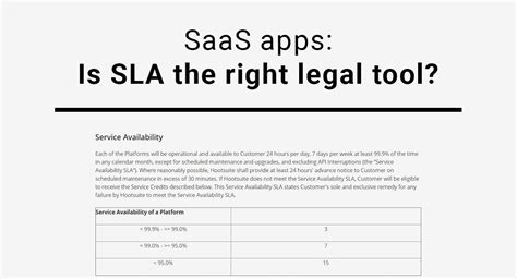 Saas Service Level Agreement Template by Saas Apps Is Sla The Right Tool Termsfeed