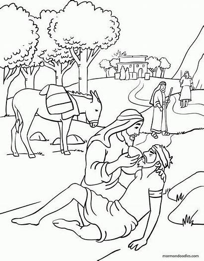 Samaritan Coloring Bible Pages Story Parable Sheets