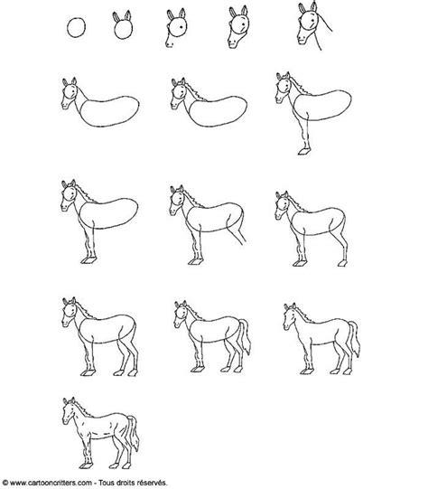 les 25 meilleures id 233 es concernant comment dessiner un cheval sur dessin de cheval