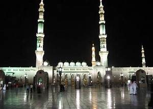 Message of Peace : Masjid-E-Nabawi night wallpapers