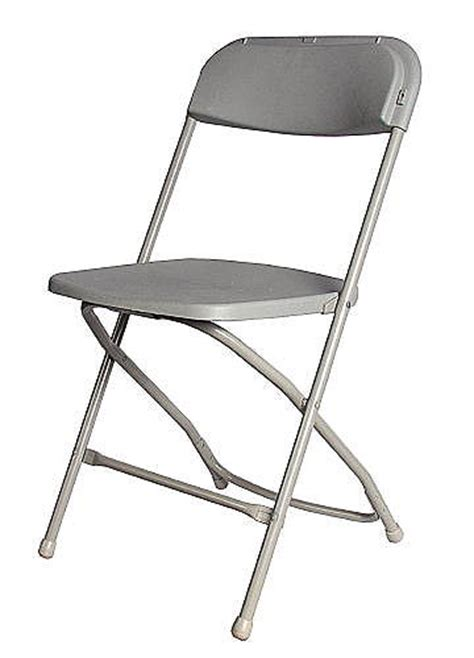 economy folding chair grey catering equipment hire