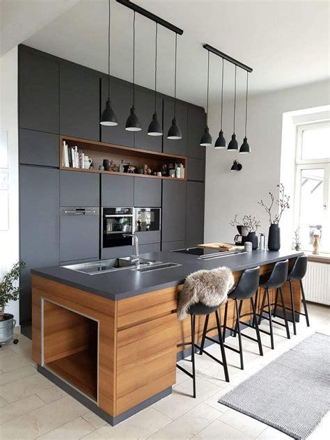 cocina armario en gris oscuro  juego  la encimera de