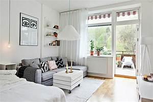 50 idees pour amenager un petit studio page 2 sur 5 With tapis chambre bébé avec canapé lit studio
