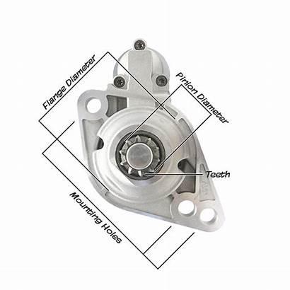 Starter Motor Measure Parts Diagram Sizes Motors