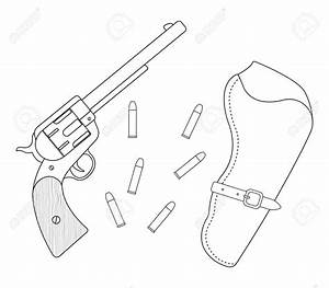 Outline Drawing Of A Gun