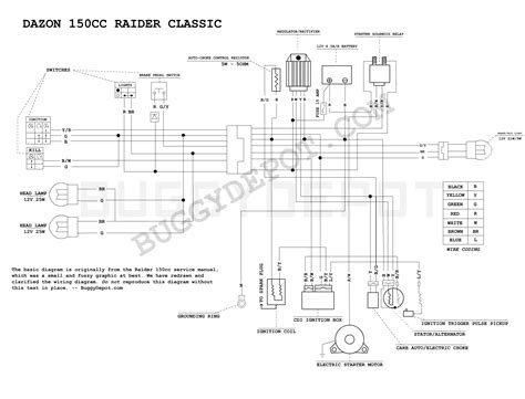 Carbide Go Kart Wire Diagram by Dazon Classic Wiring Diagram Buggy Depot