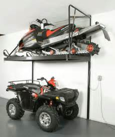 Ceiling Mount Pulley by Snowmobile Rack Wasatch Garage