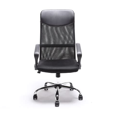 black modern executive ergonomic mesh high back computer
