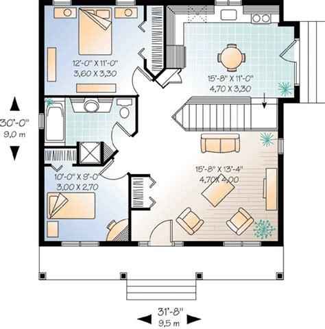 2 bedroom cottage plans 2 bedroom cottage house plan 21255dr architectural