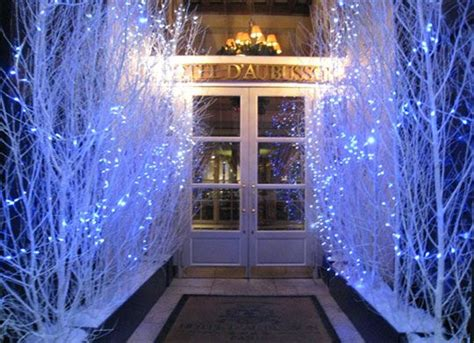 hotel daubusson luxury hotel outdoor holiday decorating