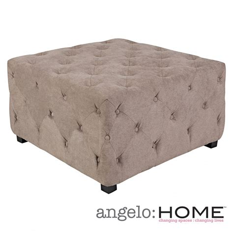 Best Deals On Ottomans by Angelo Home Duncan Parisian Gray Velvet Large Tufted