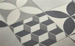 sol vinyle imitation carreau de ciment retro et moderne With sol stratifié imitation carreau de ciment