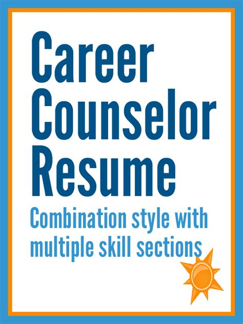 career counselor resume template images