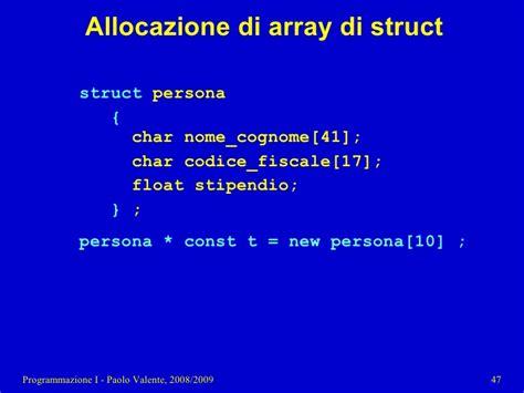 programmazione array dinamici  puntatori