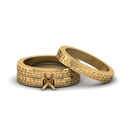 mount cheap trio wedding ring sets for couples in 18k yellow gold fascinating diamonds