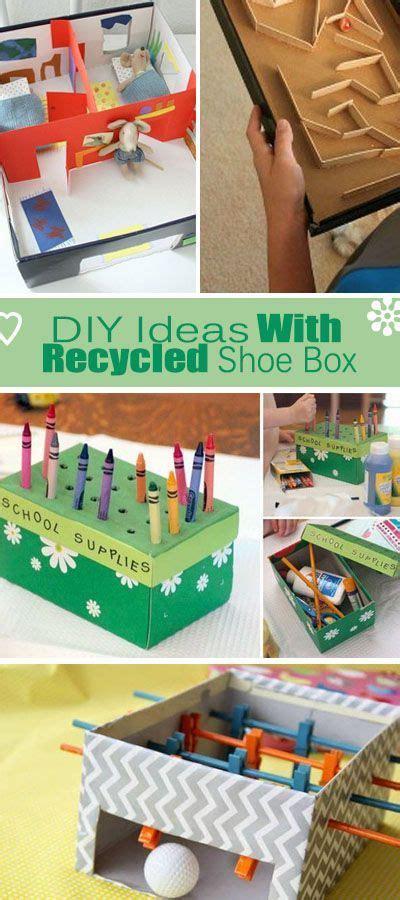 diy ideas  recycled shoe box tons  ideas