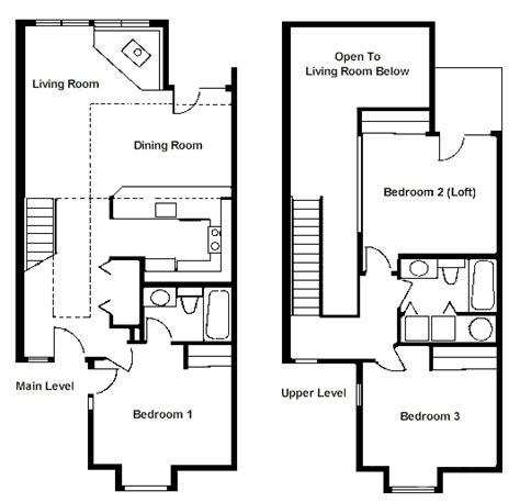 floor plan two bedroom loft rci id 1711 whispering