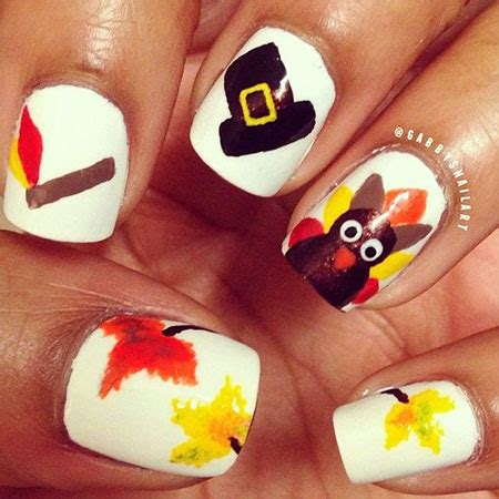 thanksgiving nail art designs ideas trends stickers