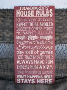 Grandparents House Rules Sign