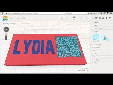 tinkercad model   print  qr code card drafting