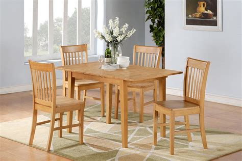 pc rectangular dinette kitchen table  wood seat